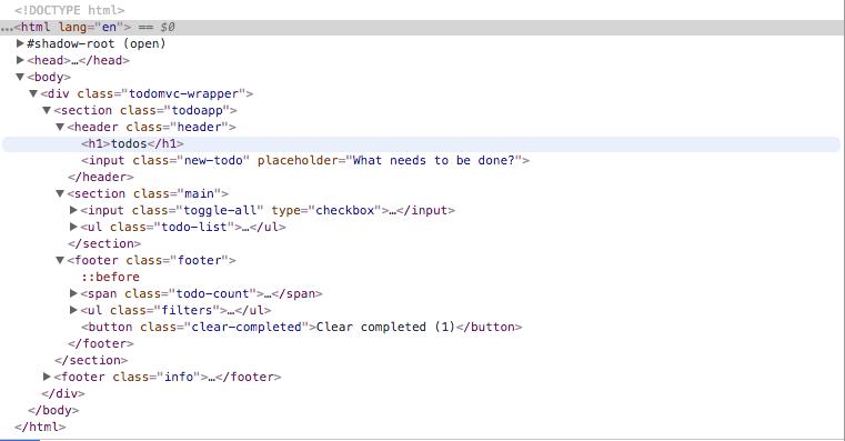 To Do MVC HTML DOM
